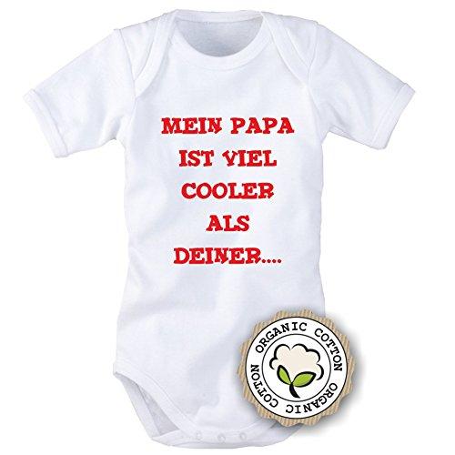 Babybody mit Aufdruck: Mein Papa ist viel cooler als deiner... (62/68)
