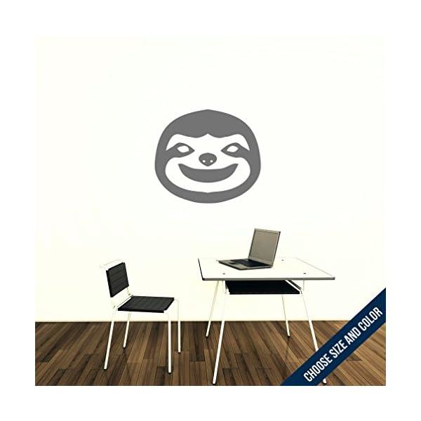 Urbandecal Sloth Wall Decal, Sticker, Slate Grey 54X46 -