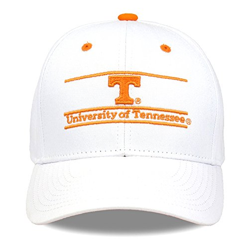 The Game NCAA Tennessee Volunteers Unisex NCAA bar Design Hat, White, Adjustable