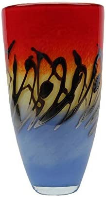Murano Art Collection European Art Glass Odyssey Round Vase