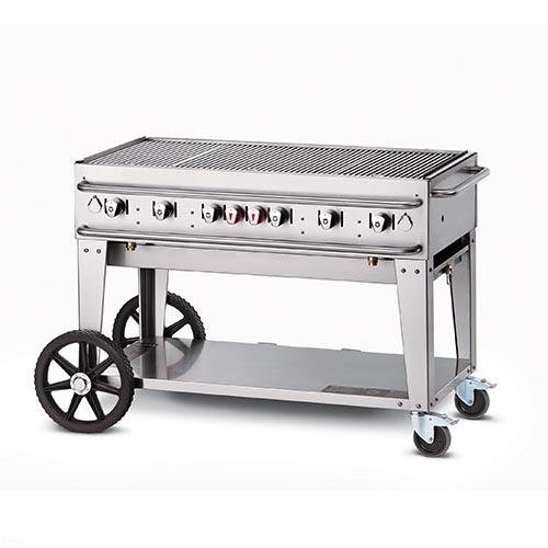 Crown Verity Stainless Steel Grill - Crown Verity RCB Series Stainless Steel Rental Grill with Single Gas Connection, 48 inch -- 1 each.