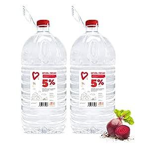 Living Earth 2 x 5 litres | 5% Vinagre Blanco: Amazon.es: Hogar