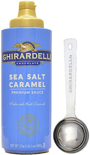 (Ghirardelli - Sea Salt Caramel Flavored Sauce, 17 Ounce Squeeze Bottle - with Limited Edition Measuring Spoon)