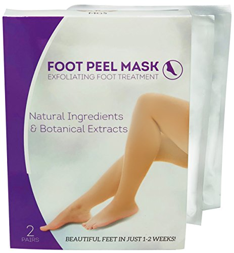 Foot Peel Mask - Exfoliating & Purifying Foot Mask Booties Callus Remover Peel Off Mask Pair With Botanical Extracts & Natural Ingredients to Remove Dead Skin For Dry, Cracked Feet - By MGS