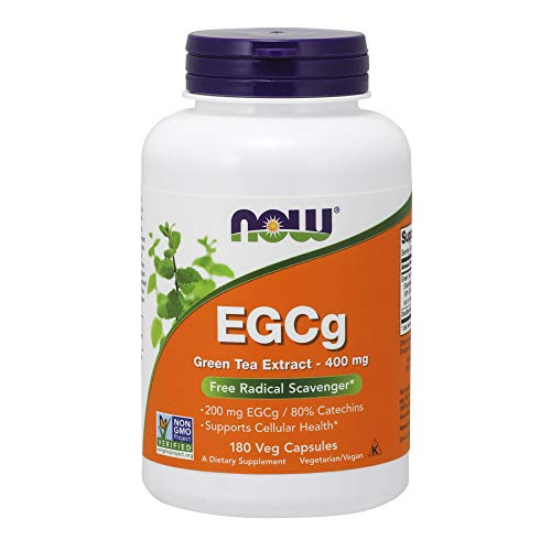 NOW Supplements, EGCg Green Tea Extract 400 mg, 180 Veg Capsules ()