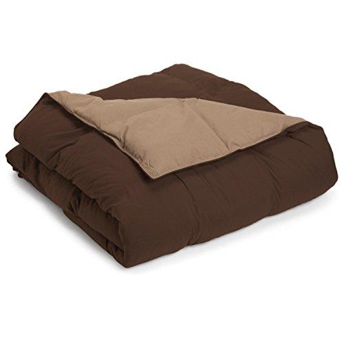 down alternative comforter taupe - 2