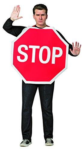 Rasta Imposta Men's Stop Sign, Red, One Size -