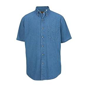 P & J Big and Tall/Edwards Big and Tall Short Sleeved Denim Shirts up To 6XT Tall