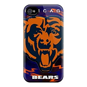 Defender Case With Nice Appearance (chicago Bears) For Iphone 4/4s