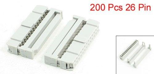 Conectores de Cable Plano 26P eDealMax Mujer IDC Plug FC-26P, 200 unidades