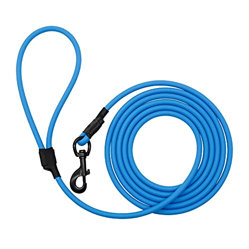 Nimble Long Leash for Dog Training Waterproof Rope Leash Heavy Duty and Durable Dog Lead 30ft 15ft 10ft Great for Training, Beach, Playing, Camping or Backyard(30ft, Blue)