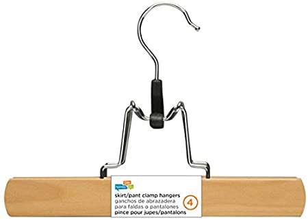 Amazon.com: Honey-Can-Do HNG-01206 Basic Suit Hanger with Non-slip Bar, 4-Pack, Maple: Home & Kitchen
