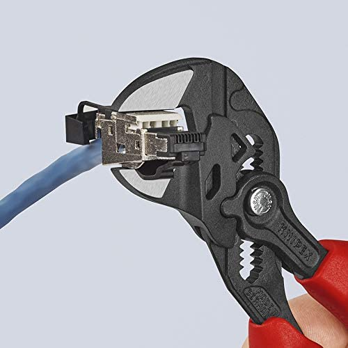 Knipex 86 02 180 Pliers Wrench Pliers and A Wrench in A Single Tool Black Atramentized 180 mm