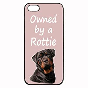 """Custom """" Details about Rottweiler 'Owned by a Rottie' Hard Case Clip on Back Cover for i-Phone 4/4S"""""""