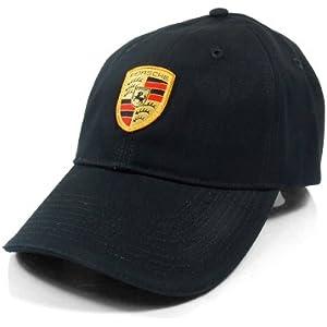 Amazon.com  Porsche Black Crest Logo Cap 2f1d22ff8ad