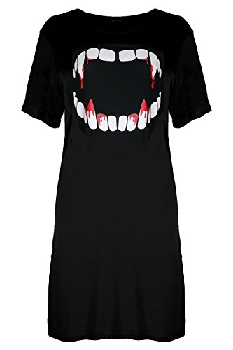 Vampire Halloween Tunic Be Dress Long Tooth Bleeding Black Baggy Womens Tshirt Jealous EqRwpCwYA