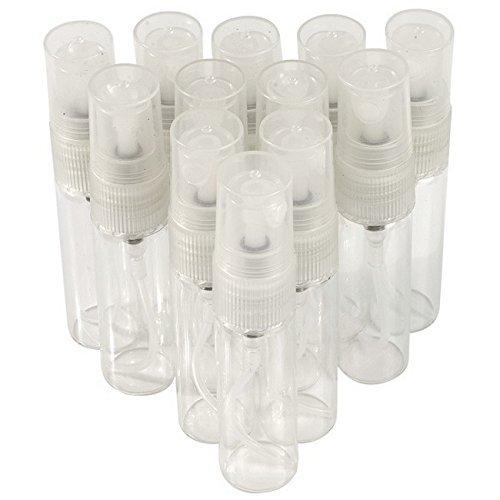 5ml Mini Amazing Glass Refillable Empty Perfume Tube Atomizer Pump Bottles Bottle Spray Sprayer for Travel or Gifts (12) ()
