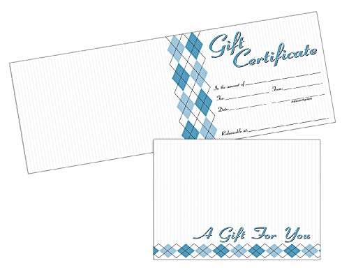 Adams Gift Certificate Cards, 20 Folded Cards and Envelopes, 6.25 x 4.50 Inches, White - Adams Certificates Gift