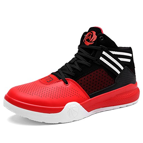 Zapatillas LFEU Unisex adulto altas Rojo XfqTaz