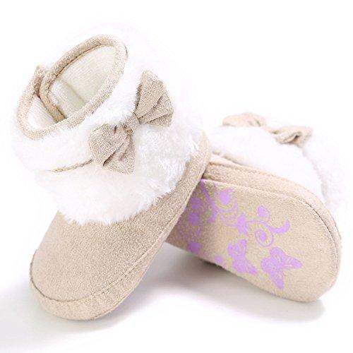 Originaltree Winter Baby Mädchen weiche alleinige Schuhe warme Bowknot Schnee Stiefel Apricot