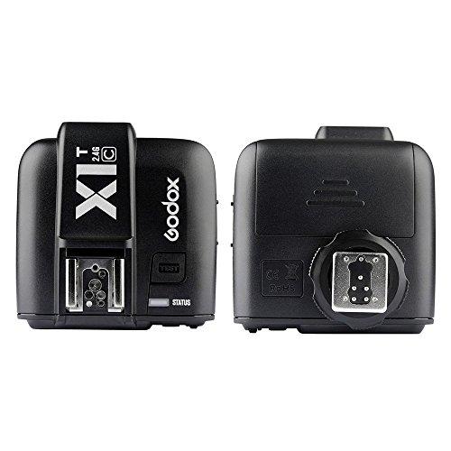 GODOX X1T-C TTL 1/8000s HSS 32 Channels 2.4G Wireless LCD Flash Trigger Transmitter for Canon EOS Cameras Godox TT685C Speedlite X1R-C Receiver
