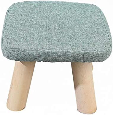 Stool – shoe bench, home sofa bench, linen solid wood coffee table stool, children s stool Color A, Size Square