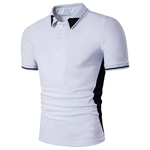 Men's Summer Polo Shirt,FUNIC Turn-down Collar