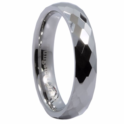 m Honeycomb Ring With Diamond Pattern Tungsten Carbide Wedding Band Size 10 ()