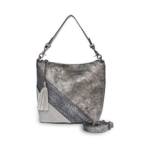 DEERWORD Women's Handbags Shoulder Bags Top-Handle Bags Cross-Body Bags Faux Leather Designer Silver