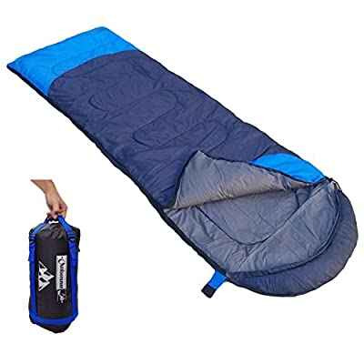 """Outdoorsman Lab Camping Accessories – 85"""" x 29.5"""" Soft Sleeping Bag with Compression Sack – Use Lightweight Sleeping Bags For Adults, Hiking, Backpacking with Tents - Ideal Outdoor Packable Sleep Gear"""