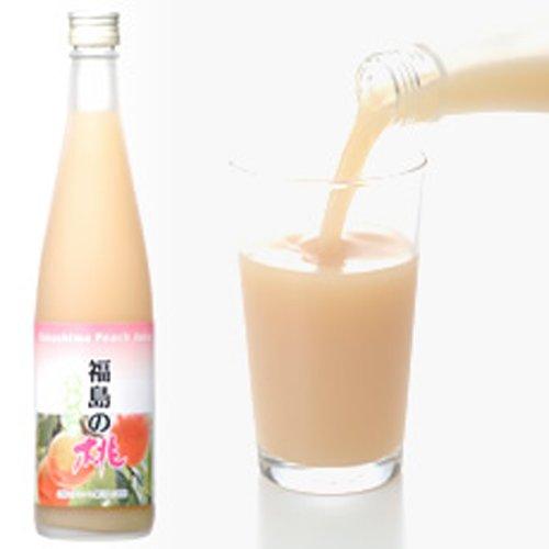 日本果実加工 福島の桃ジュース 520g