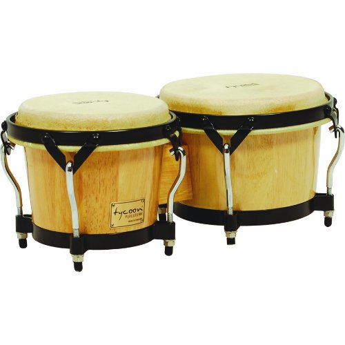 Tycoon Percussion 7 Inch & 8 1/2 Inch Supremo Series Bongos - Natural Finish by Tycoon Percussion