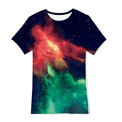 Funnycokid Boys Girls Ice and Fire T-Shirts Cowboys Cool Breathable Blouse Summer Top Tees 14-16 Year Old