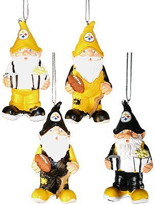 Pittsburgh Steelers Gnome Ornament 4 Pack from Forever Collectibles