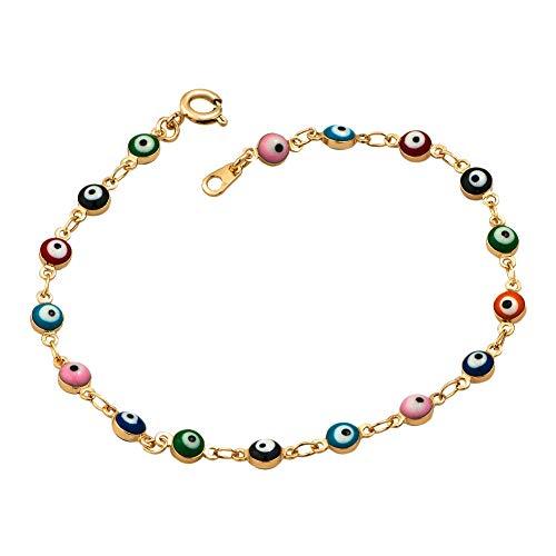 Infinite Memories Good Luck Symbols Eyes Hamsa Hand of Miriam Fatima Lucky Protective Bracelets for Women Girls Multi-Color ()