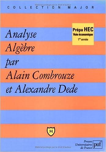 Livres Analyse algèbre epub pdf