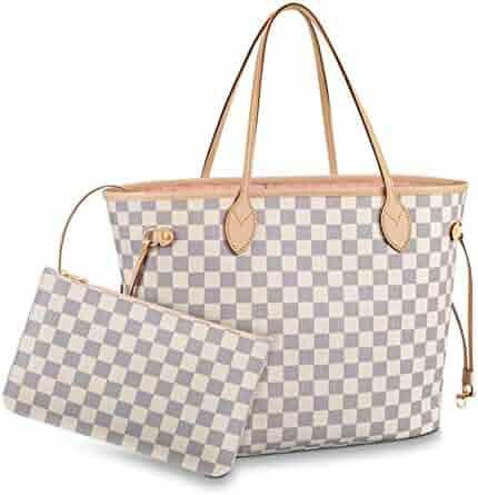 c8bc3d113cc40 Womens Classic Canvas Neverfull Top-Handle Tote Bag Large Volume Shoulder  Bag (MM 32cm