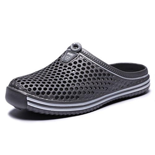 welltree Garden Shoes/Sandals Women Men Quick Drying Clogs/Slippers Walking Lightweight Rain Summer 7 Men/9 Women/Grey/40