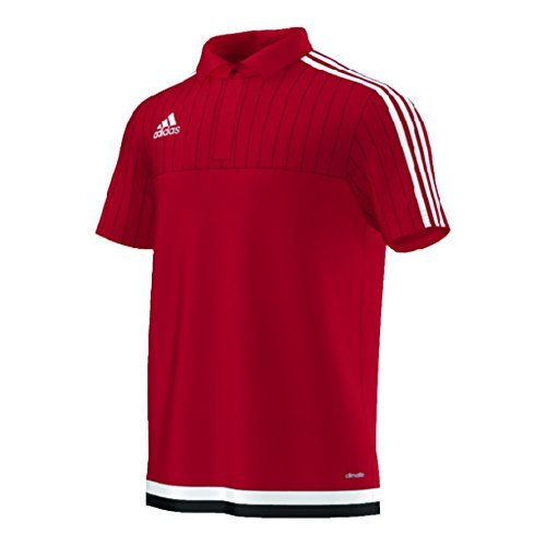 Adidas Tiro 15 Climalite Mens Polo M Power Red-White-Black -