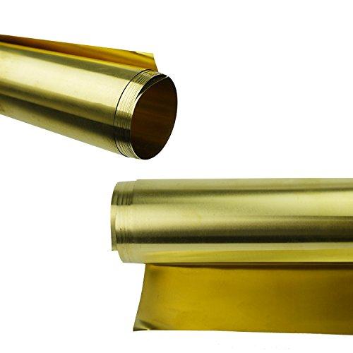 Lieomo H62 Metal Brass Sheet Strip Yellow Copper Foil Plate 0.1mm X 200mm X 1000mm