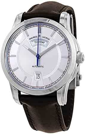 Maurice Lacroix Pontos Day Date Retro Mens Silver Dial Automatic Watch PT6158-SS001-131