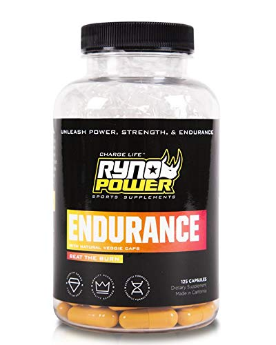 Ryno Power Endurance Capsules – Workout Harder and Longer – Reduce Lactic Acid Build-Up and Deliver More Oxygen to Your Muscles