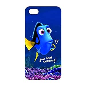 diy zhengCool-benz Turtle Rock blue lovely fish 3D Phone Case for iphone 5c/