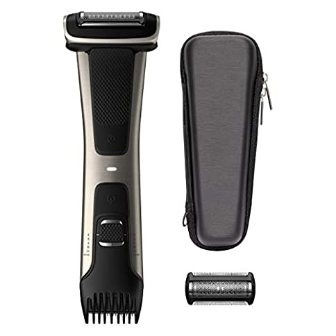 Philips Norelco Bodygroomer BG7040/42 - skin friendly, showerproof, body trimmer and shaver with case and replacement head, silver - 41LO2assBuL - Philips Norelco Bodygroomer BG7040/42 – skin friendly, showerproof, body trimmer and shaver with case and replacement head, silver