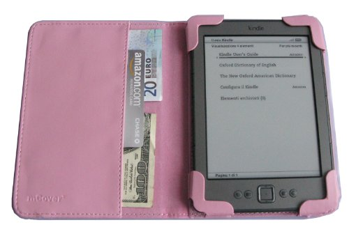 mCover Leather Folio Cover Case with built-in inner pocket for Amazon Kindle 4th Generation (Built-in Wi-Fi, 6