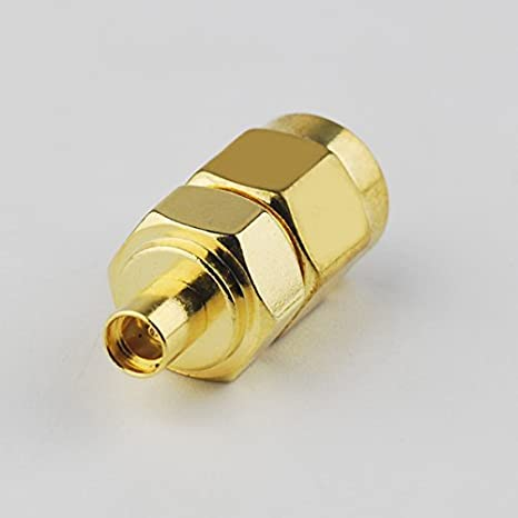 2pcs Rf Wire Terminal Copper Alloy Connector SMA-miniuhf Adapter SMA Female to Mini-uhf Female Straight for Wireless Antenna Ships from USA