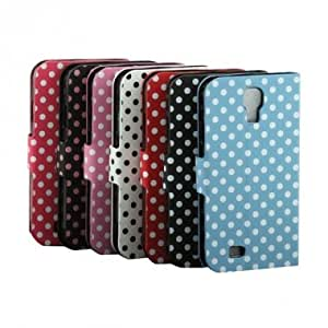 Polka Dot Card Synthetic Leather Case For Samsung Galaxy S4 I9500 --- Color:Black+Pink