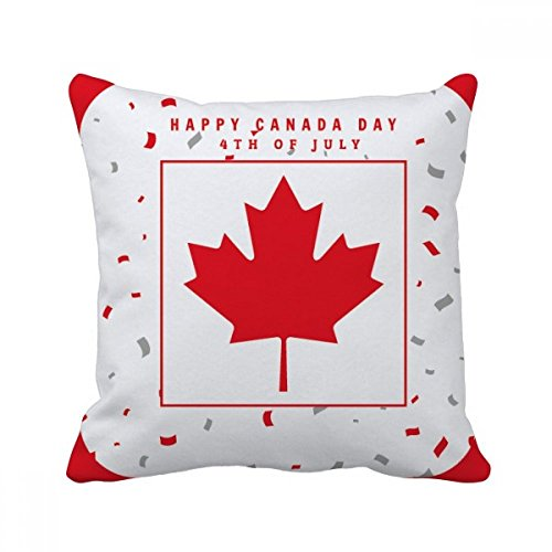 Maple Insert - beatChong Happy Canada Day 4th Of July Maple Leaf Square Throw Pillow Insert Cushion Cover Home Sofa Decor Gift