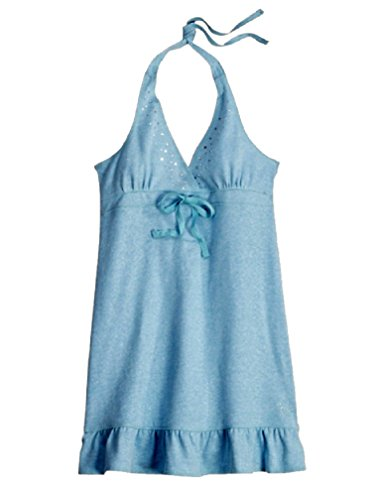Cloth Cover Halter Terry (Justice for Girls Embellished Halter Swimsuit Cover up Dress (12))