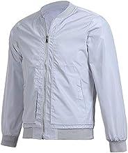 YiYLunneo Men's Baseball Bomber Jacket Lightweight Casual Stand Collar Slim Long Sleeve Zipper Windbreaker